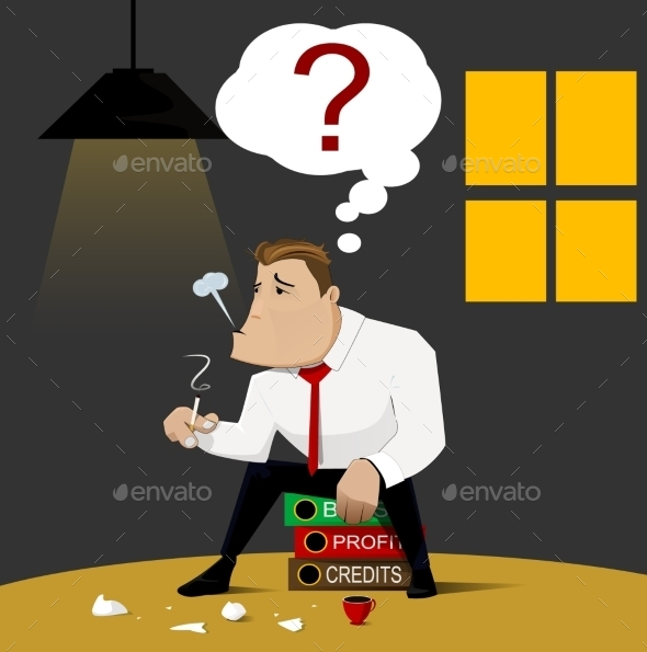 Businessman and Bankruptcy  - Concepts Business