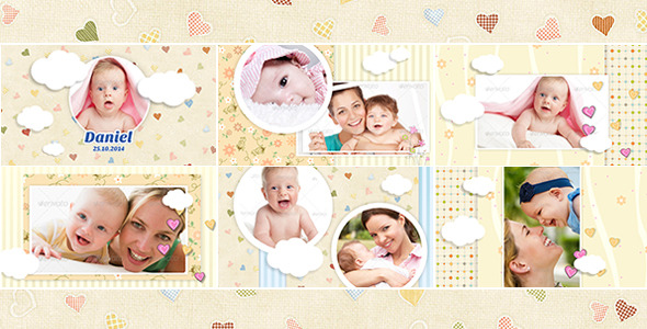 charming baby photo album by william wilson videohive