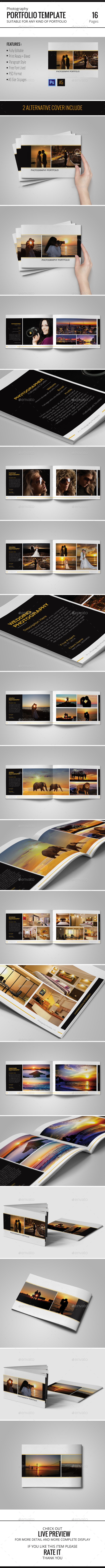 Photography Portfolio Template - Portfolio Brochures