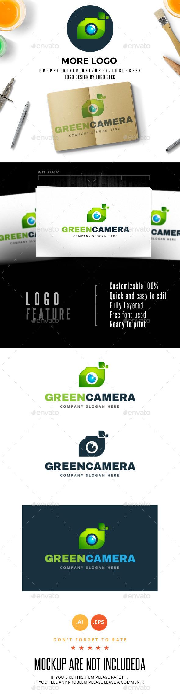 Green Camera  - Objects Logo Templates