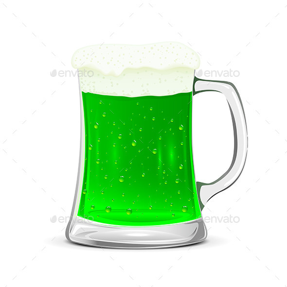 Glass Mug of Green Beer - Food Objects