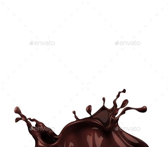 Hot Chocolate Splash  - Food Objects