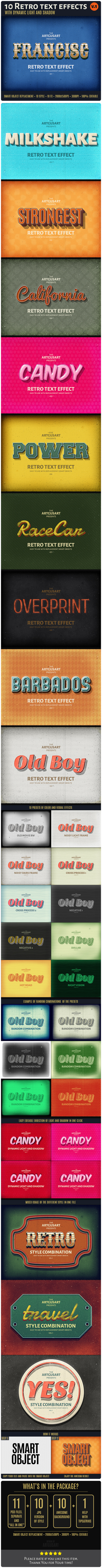 10 Retro Text Effect v.1 - Text Effects Actions