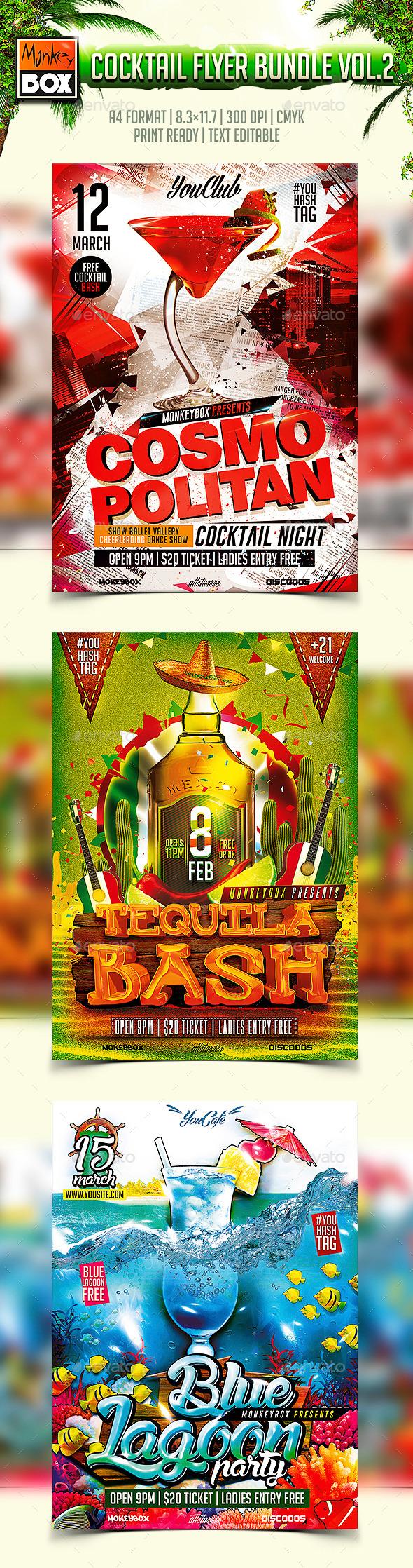 Cocktail Flyer Bundle Vol.2 - Clubs & Parties Events