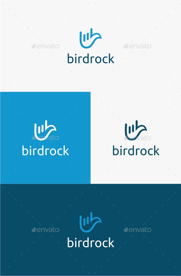 Bird Rock - Logo Template - Animals Logo Templates