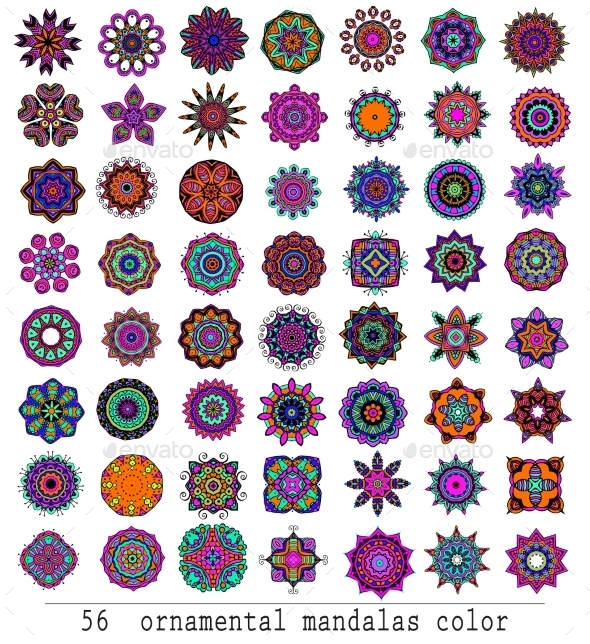 Mandalas - Flowers & Plants Nature