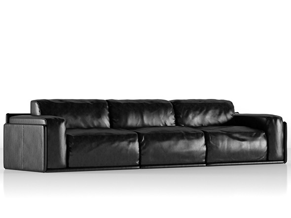 Photorealistics leather sofa. Alberta Newland - 3DOcean Item for Sale