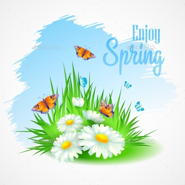 Spring Greeting Card with Daisies - Miscellaneous Seasons/Holidays