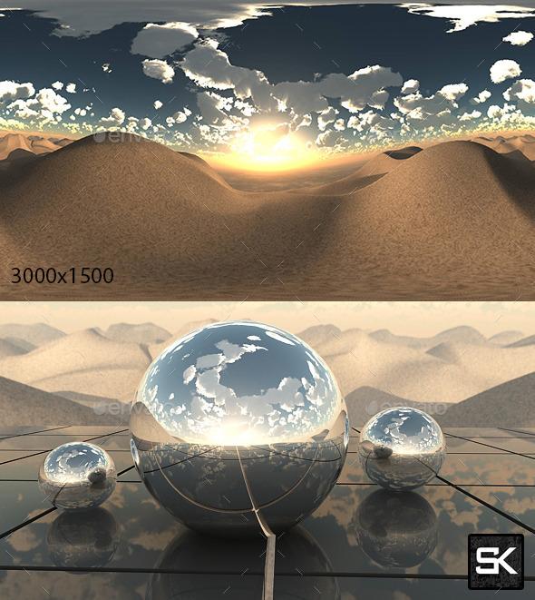 Sunrise In The Desert - 3DOcean Item for Sale