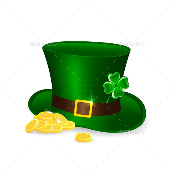 Leprechauns Hat and Coins - Man-made Objects Objects