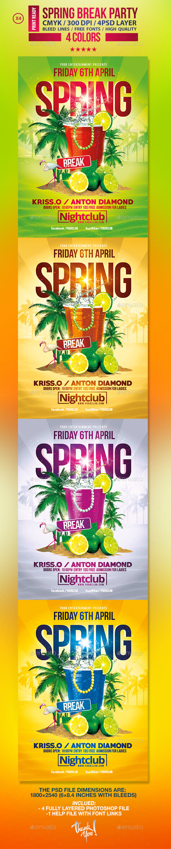 Spring Break Party  | Festival Collection  - Clubs & Parties Events