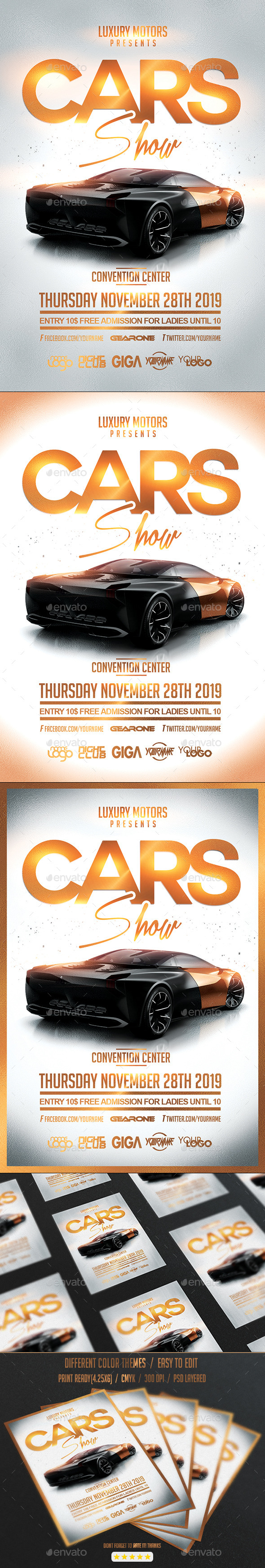 Cars Show | Convention Flyer PSD Template - Events Flyers