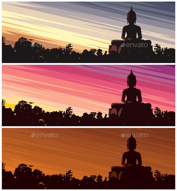 Buddha Dusk - Travel Conceptual