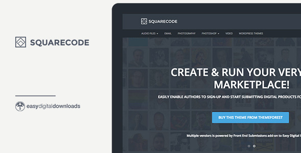 SquareCode – Marketplace for Easy Digital Downloads