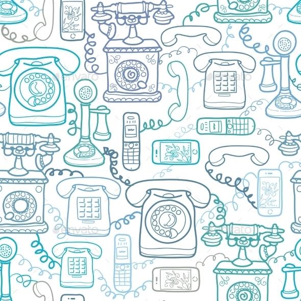 Telephones Pattern - Patterns Decorative