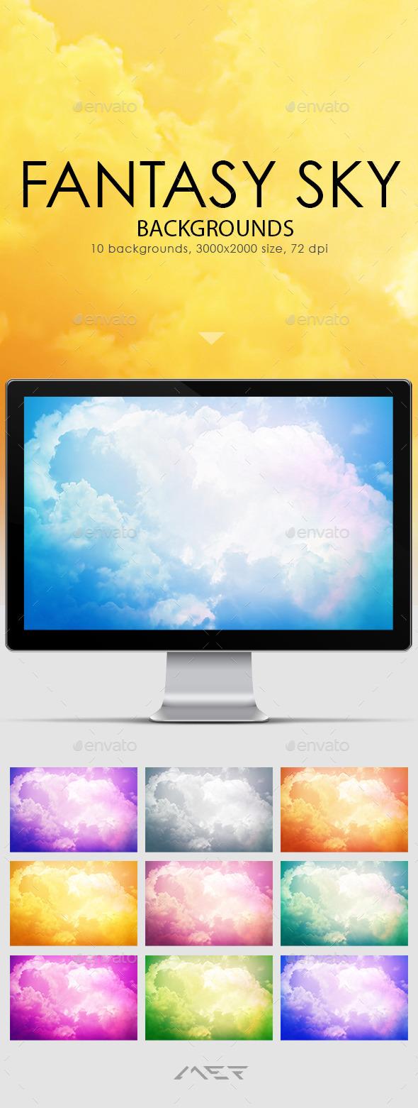 Fantasy Sky Backgrounds - Nature Backgrounds