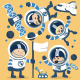 Astronauts in Space - GraphicRiver Item for Sale