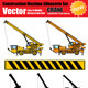 Vector Crane Silhouette Set - GraphicRiver Item for Sale