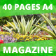 40 Pages Gardenia Modern Magazine Template - GraphicRiver Item for Sale