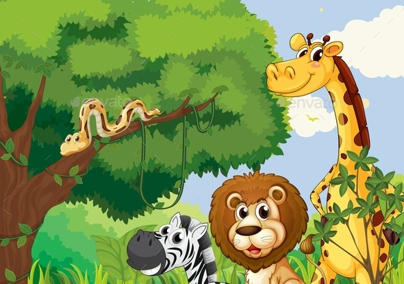 Forest of Wild Animals  - Animals Characters
