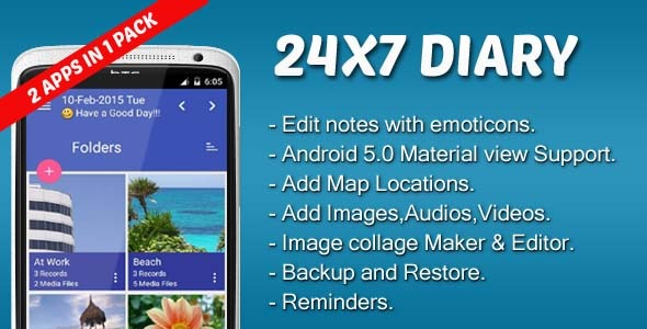 24X7 Diary - CodeCanyon Item for Sale