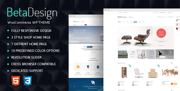 Beta Design | WooCommerce WP Theme