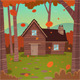 Cabin in Woods - GraphicRiver Item for Sale