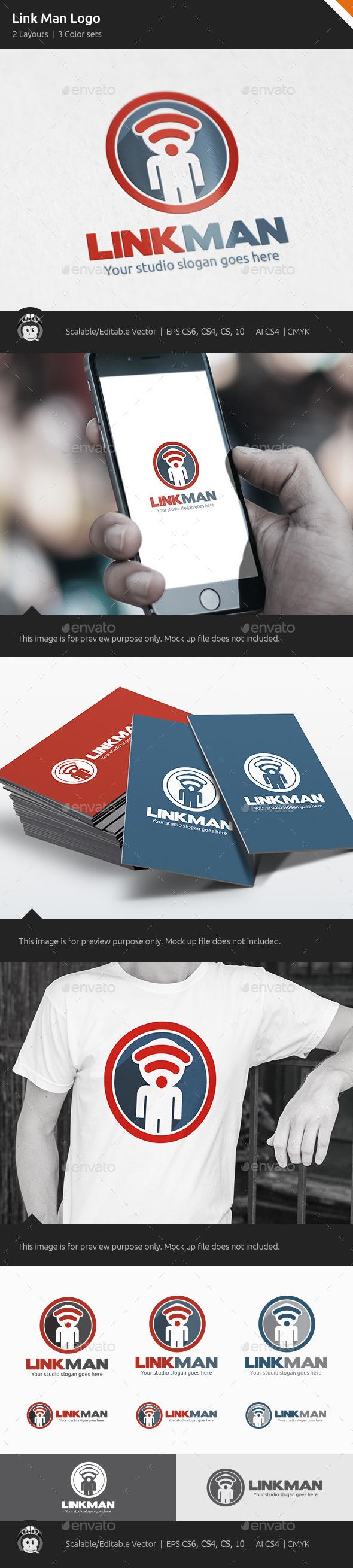 Link Man Logo - Symbols Logo Templates
