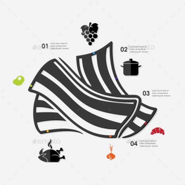 Restaurant Infographic - Food Objects