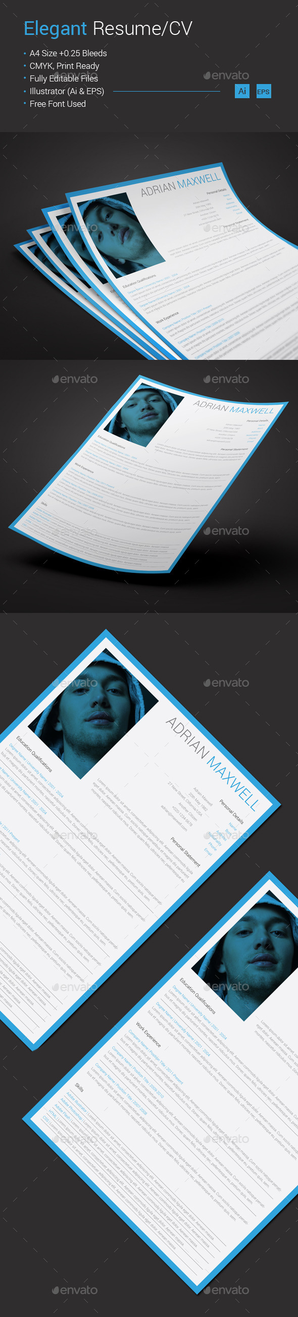Elegant Resume/CV - Resumes Stationery