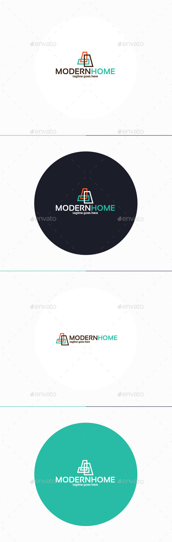 Modern Home Logo - Buildings Logo Templates
