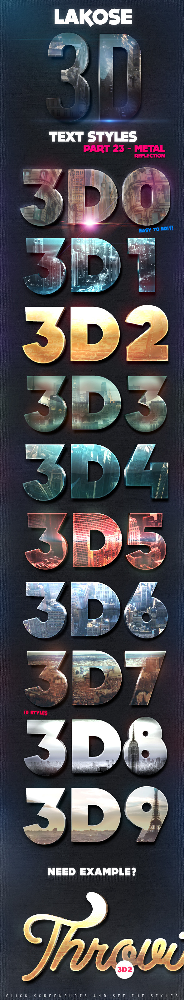 Lakose 3D Text Styles Part 23 - Text Effects Styles
