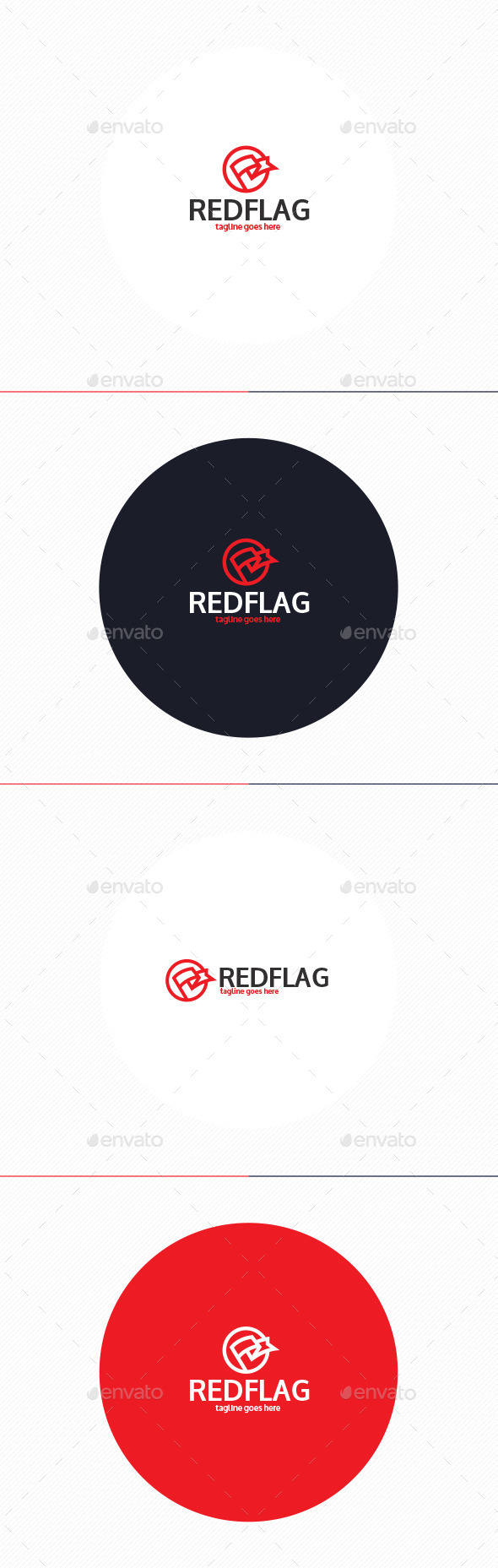Red Flag Logo - Objects Logo Templates