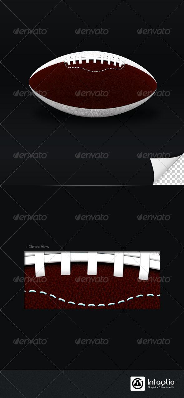 American Foot Ball 3D Render - 3D Backgrounds