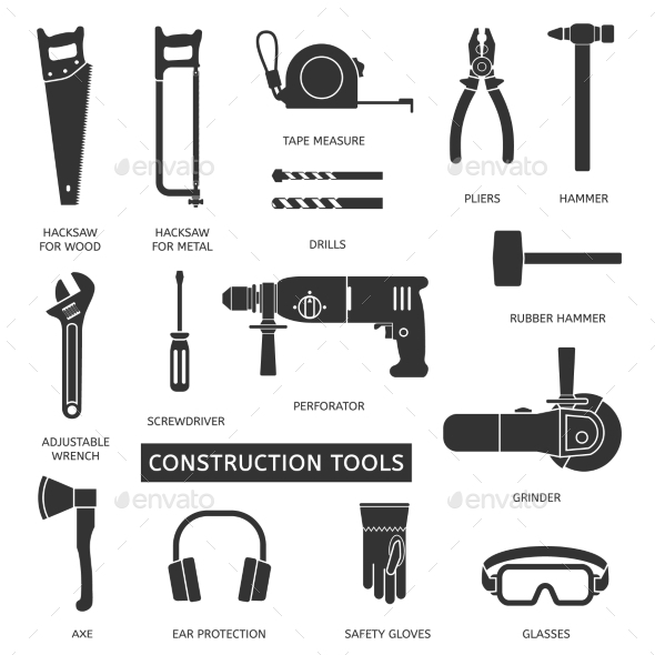 Construction Tools Set - Buildings Objects