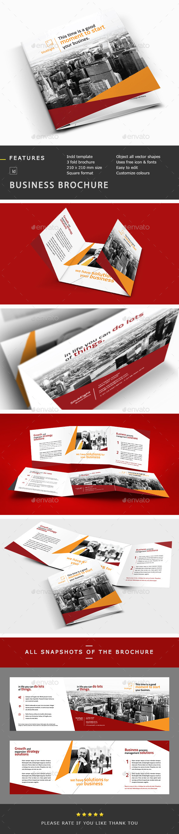 Business Corporate Trifold Brochure Template - Corporate Brochures