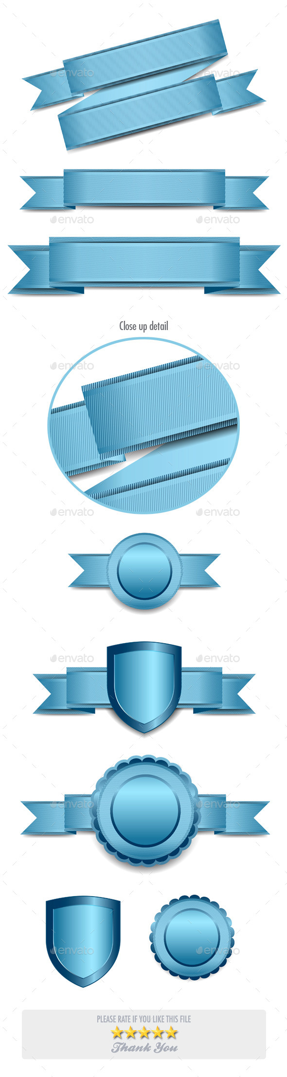 Banners Elements - Web Elements Vectors