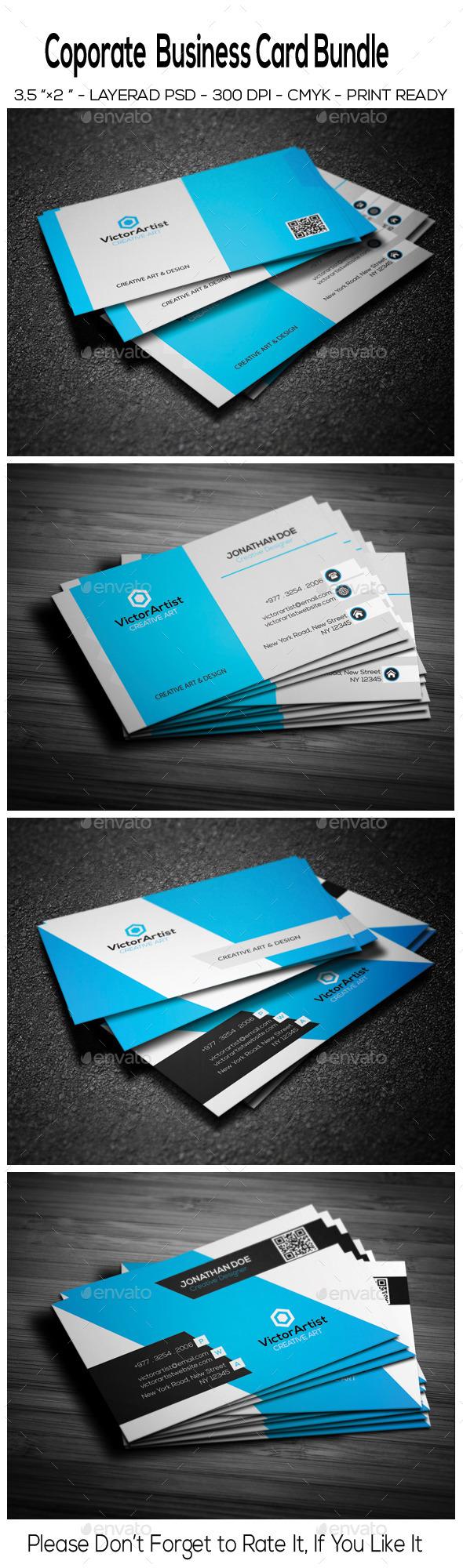 Corporate Business Card Bundle 01 - Corporate Business Cards