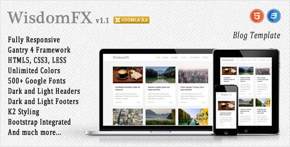 WisdomFX – Responsive Joomla Template