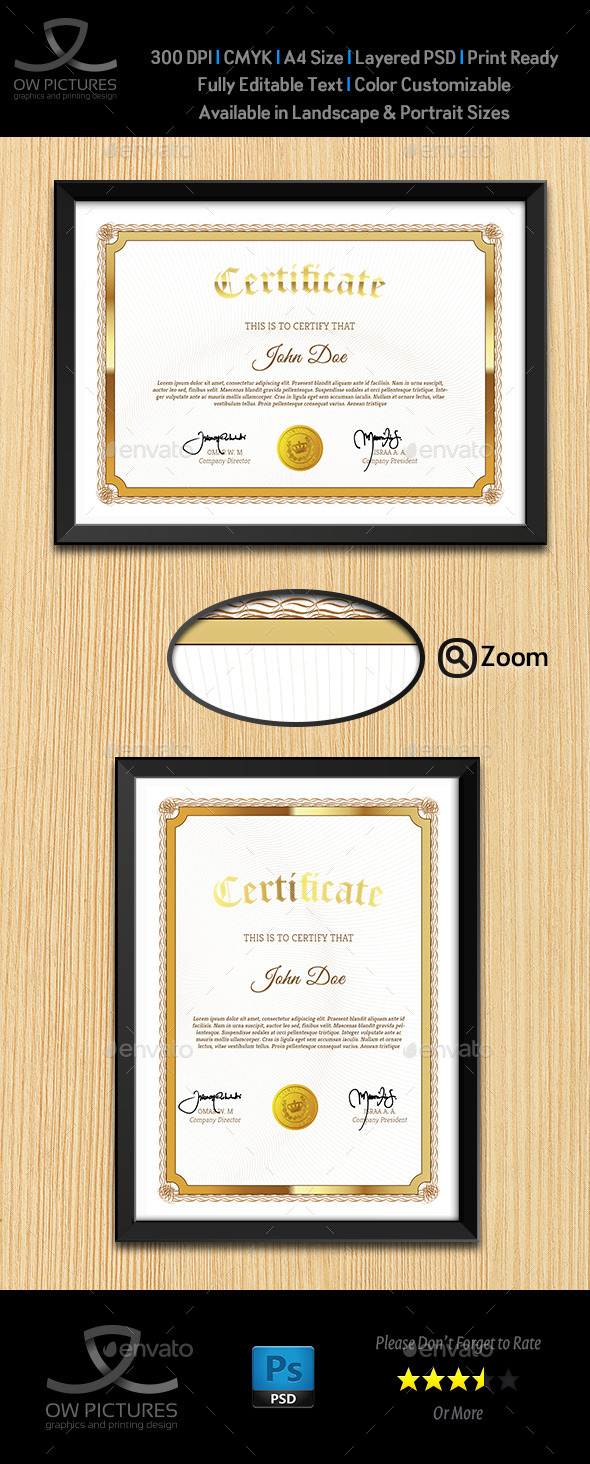 Multi Purpose Certificates Template Vol.4 - Certificates Stationery