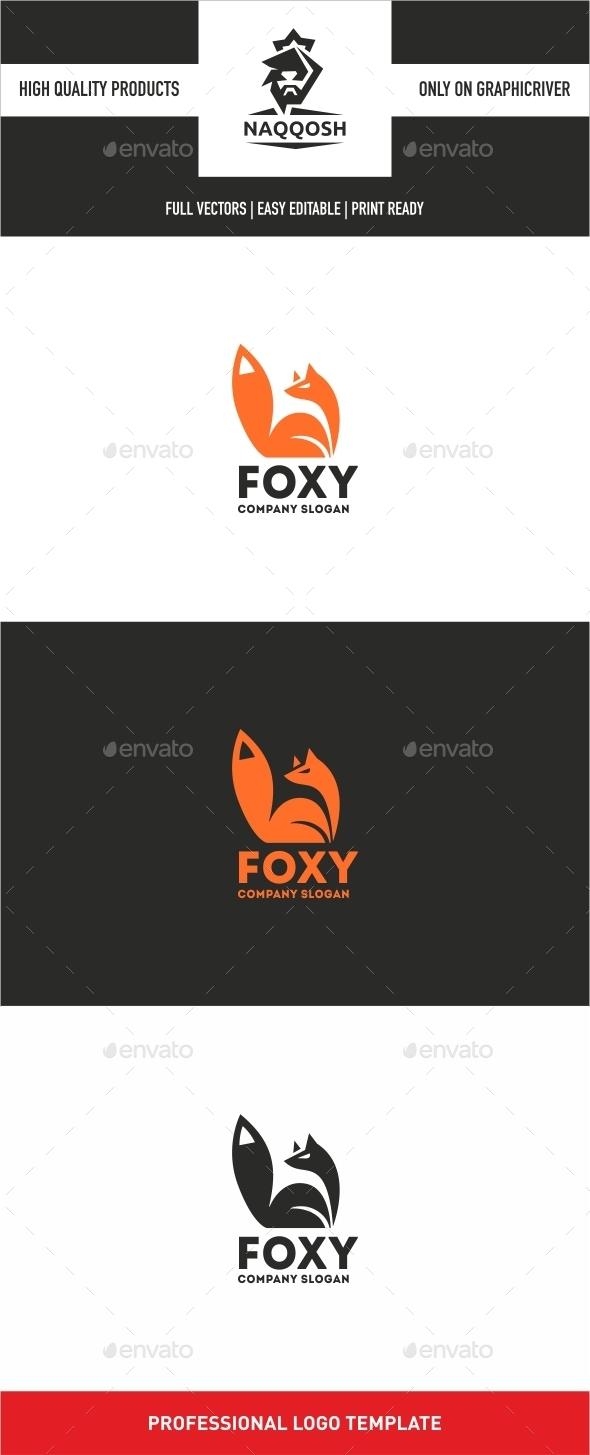 Foxy  - Animals Logo Templates