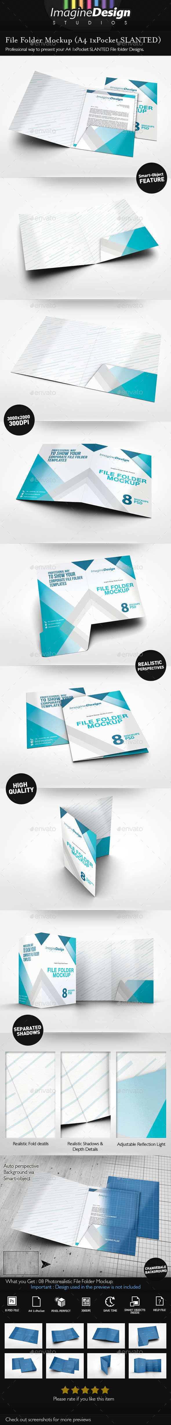 File Folder Mockup - Stationery Print
