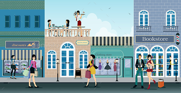 Shopping Street - Business Conceptual