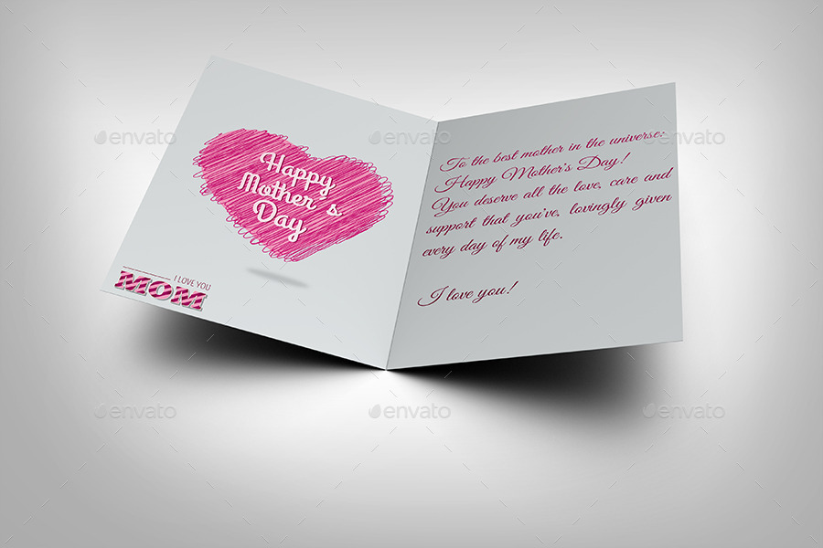 Mother Day Greeting Card Template By Owpictures  Graphicriver