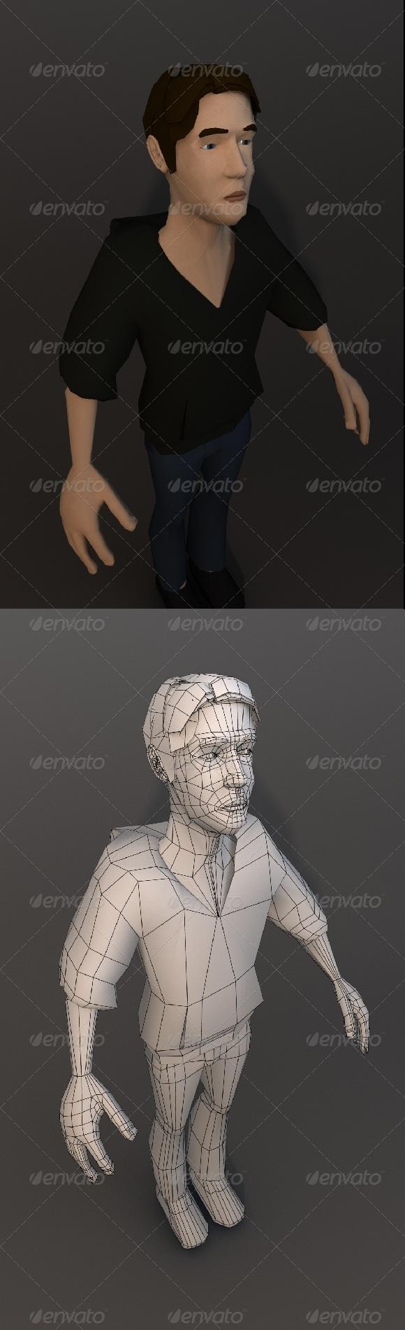 Base Cartoon Human Character - 3DOcean Item for Sale