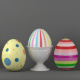 Easter Egg Set and Egg Cup - 3DOcean Item for Sale