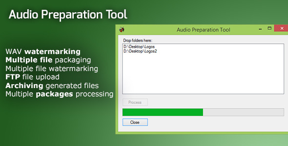Audio Preparation Watermarking and Upload Tool - CodeCanyon Item for Sale