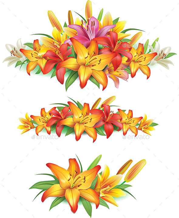 Garlands of Yellow Lilies - Flowers & Plants Nature