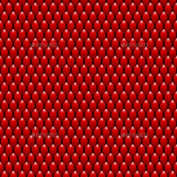 Red Dragon Scales Seamless Texture - Backgrounds Decorative