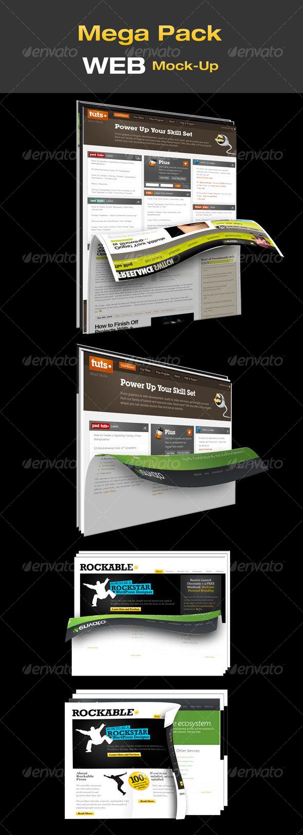 Mega Pack WEB Mock-Up - Website Displays